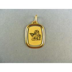 Zlatý prívesok anjel žlté zlato VI085A
