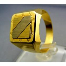 Pánsky prsteň z dvojfarebného zlata