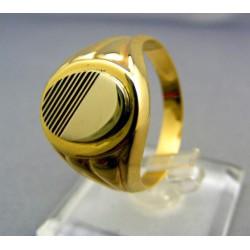 Zlatý pánsky prsteň žlté zlato VP67583Z