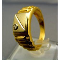 Zlatý pánsky prsteň žlté zlato VP62583Z