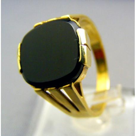 Pánsky pečatný prsteň s kameňom onyx