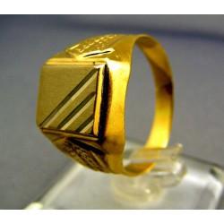 Zlatý pánsky prsteň pečatný žlté zlato VP64477Z