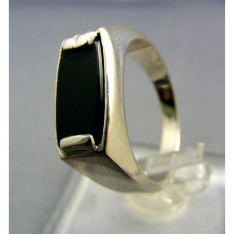 Pánsky prsteň biele zlato