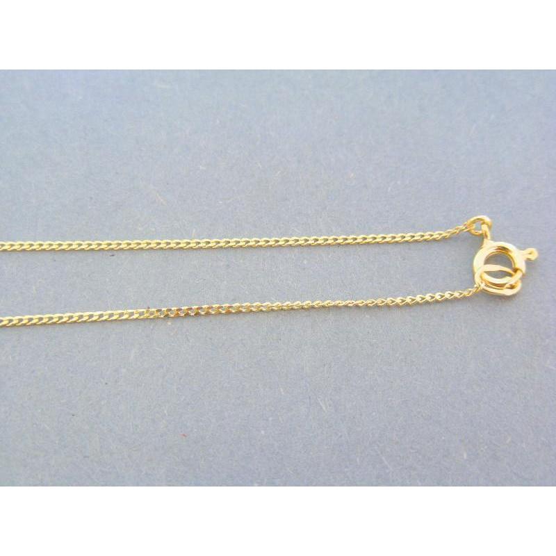 854c964a3 Jemná jednoduchá zlatá retiazka žlté zlato male očká