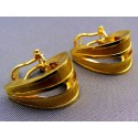 Zlaté náušnice dva polkruhy žlté zlato s leskom VA528