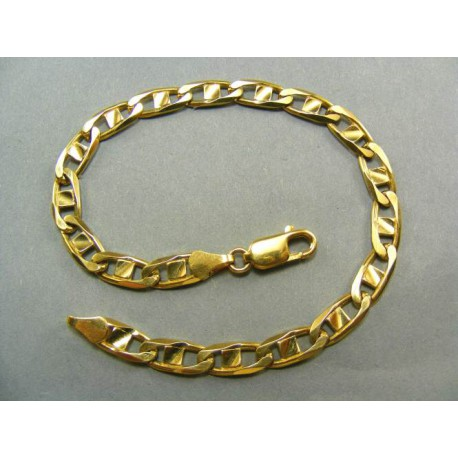 Hrubý zlatý náramok