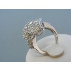 Strieborny prsteň Swarovskí krištáľ zaujímavy VPS50790