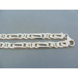 Strieborna retiazka so zaujímavym vzorom VRS514655