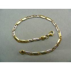 Zlatý náramok moderný dvojfarebné zlato DN19555V