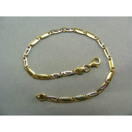 Zlatý náramok moderný dvojfarebné zlato