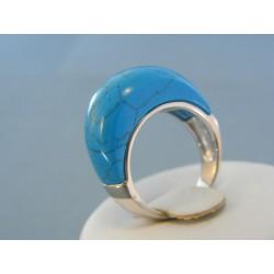Strieborný prsteň s modrým kameňom VPS54704