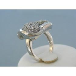 Strieborný prsteň moderný zdobený krištálikmi Swarovského VPS53767