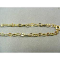 Zlatá retiazka žlté zlato jemne zdobené očká DR45454
