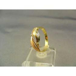 Zlatý dámsky prsteň viacfarebné zlata VP63242V