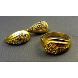 Zlatá súprava prsteň náušnice VSP58931