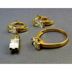 Súprava zlatá s kamienkom
