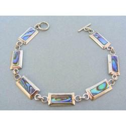 Strieborný dámsky náramok zaujímava perleť VNS20975