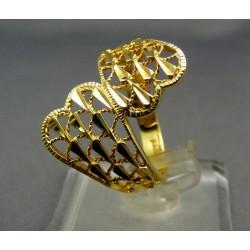 Zlatý prsteň vyrezávany žlté zlato VP57309Z