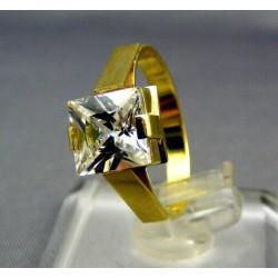 Zlatý prsteň žlté zlato zdobený zirkónom VP55324Z