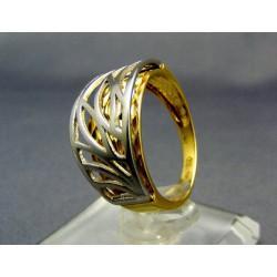Zlatý dámsky prsteň viacfarebné zlata VP55451V