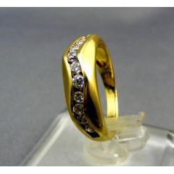 Zlatý prsteň dámsky žlté zlato kamienky VP51369Z