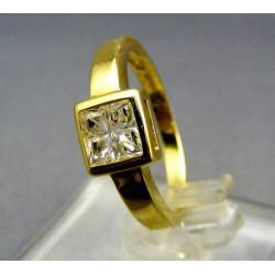 Zlatý prsteň kamienok zirkónu žlté zlato VP51257Z