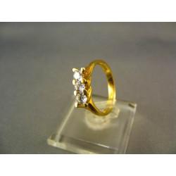 Zlatý dámsky prsteň so zirkónom žlté zlato VP53277Z