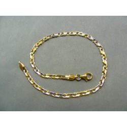 Zlatý náramok zo žltého a bieleho zlata VN21384V