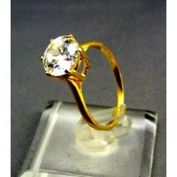 Zlatý dámsky prsteň s jemným kamienkom žlté zlato VP54259Z