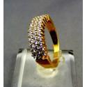 Zlatý dámsky prsteň žlté zlato male kamienky zirkónu VP56541Z