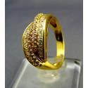 Zlatý dámsky prsteň s kamienkami žlté zlato VP55437Z
