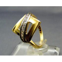 Zlatý prsteň viacfarebné zlata male kamienky VP54265V