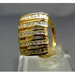Zlatý dámsky prsteň žlté zlato kamienky VP58650Z