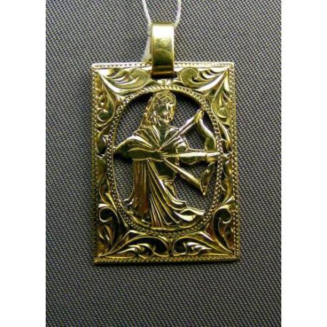 Zlatý Prívesok znamenie vzorované