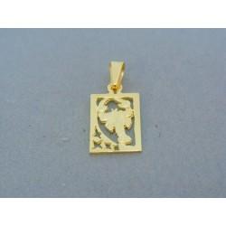 Zlatý prívesok znamenie škorpion žlté zlato DI160Z
