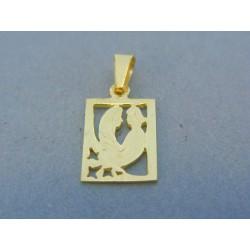 Zlatý prívesok znamenie blíženci žlté zlato DI152Z