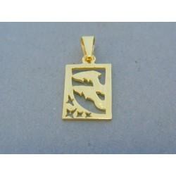 Zlatý prívesok znamenie ryby žlté zlato DI158Z