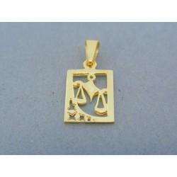 Zlatý prívesok znamenie váhy žlté zlato DI142Z