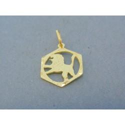 Zlatý prívesok znamenie lev žlté zlato DI1Z