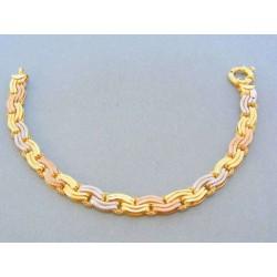 Zlatý náramok trojfarebne zlato VN19822V