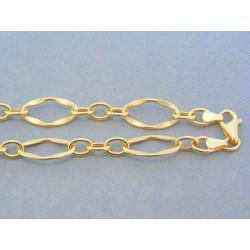 Zlatá retiazka žlté zlato hrubé figáro VR51801Z