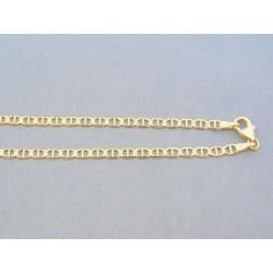 Zlatá retiazka oválne očká predelené žlté zlato VR43431Z
