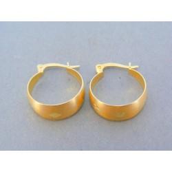 Zlaté náušnice žlté zlato kruhy VA226Z