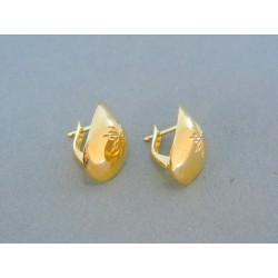 Zlaté náušnice žlté zlato VA195Z