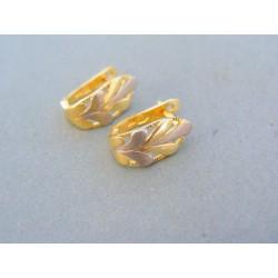 Zlaté náušnice žlté biele zlato VA209V