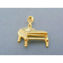 Zlatý prívesok klavír žlté zlato VI261Z