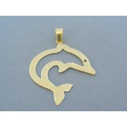Zlatý prívesok delfín žlté zlato VI173Z