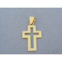 Zlatý prívesok krížik žlté zlato VIK160Z