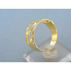Zlatý dámsky prsteň žlté zlato DP62372Z