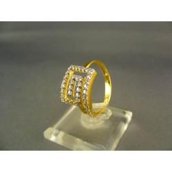 Zlatý dámsky prsteň netradičný žlté zlato DP58328Z